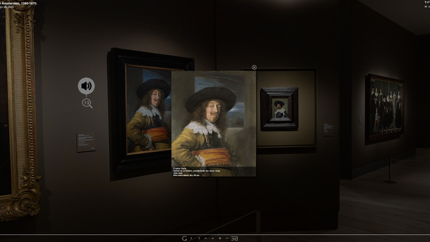 Screenshot from the museum's virtual exhibition on Rembrandt   © Museo Thyssen-Bornemisza_Rembrandt and Amsterdam portraiture, 1590-1670